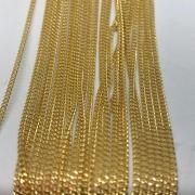 Corrente dourada (Cód acc 540) 1x1mm - 1 Metro
