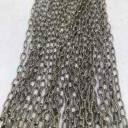 Corrente cadeado curta niquel 12x4mm (Cód D02)  - 1 Metro