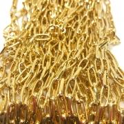 Corrente dourada 10x4mm (Cód569)  - 1 Metro