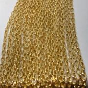 Corrente dourada 5x3mm (Cód 575)  - 1 Metro