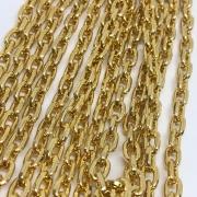 Corrente dourada 9x6mm (Cód598)  - 1 Metro