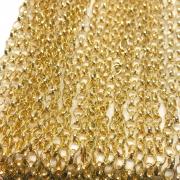 Corrente guaraná dourada 5x4mm (Cód acc 679)  - 1 Metro