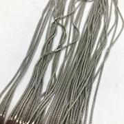 Corrente rabo de rato na cor niquel (COD 662) 1mm - 1 Metro