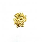 Fecho lagosta dourado 10mm 10 unidades