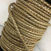 4393581651d fio de couro ecologico trancado bege cm dourado 4mm - Busca na ...