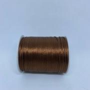 Fio de seda marrom c/ 10 metros 1mm