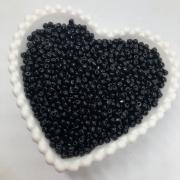 Miçanga de plástico preta 4.5 - 25g