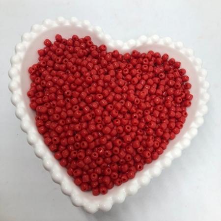 Miçanga de plástico vermelho 4.5 - 25g