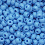 Miçanga Jablonex Azul Água Fosca 6/0 ou 5/0