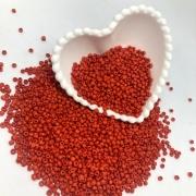 Miçangão vermelho 4.1mm (6/0)  25g