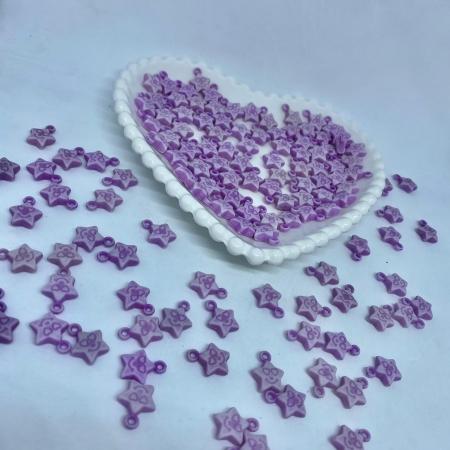 Pingente de estrela apaixonada  lilás 25g 10mm