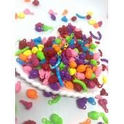 Pingente de frutinhas coloridas cores forte - 25g