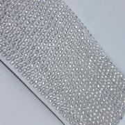 Strass em corrente base plástica cristal - 10 metros