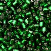 Vidrilho Preciosa Cristal Verde Escuro Transparente 2x9/0=2,6mm