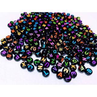 Alfabeto redondo preto e colorido 7mm - 25g