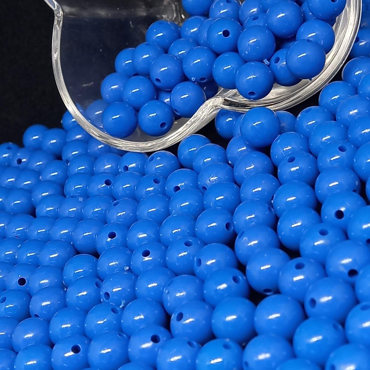 Bolinha de plástico azul  - 25g 10mm