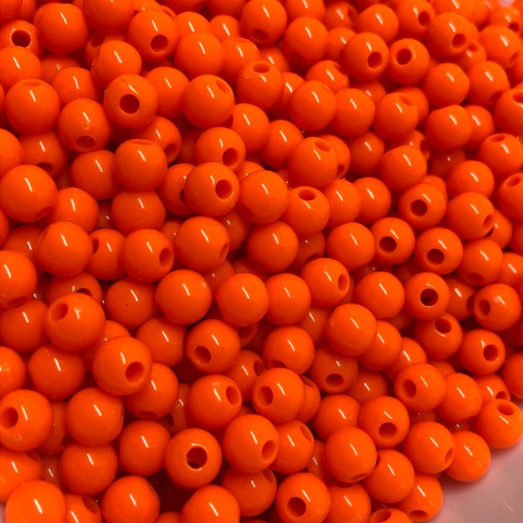 Bolinha de plástico laranja - 25g