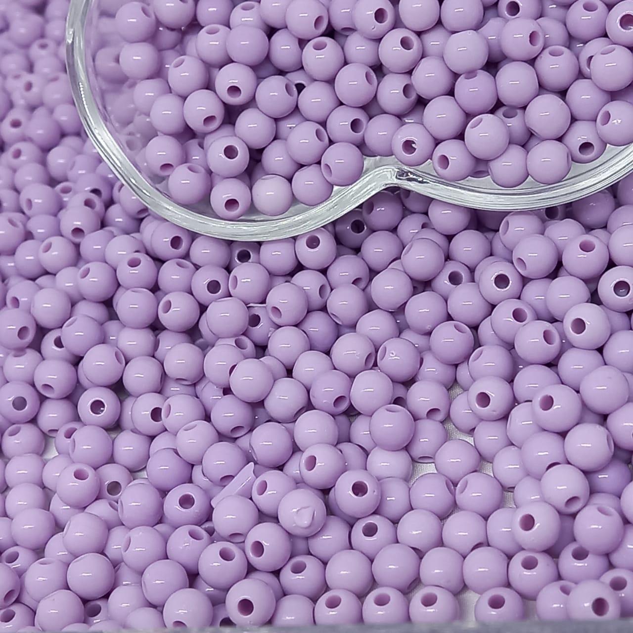 Bolinha de plástico lilás  - 25g 6mm