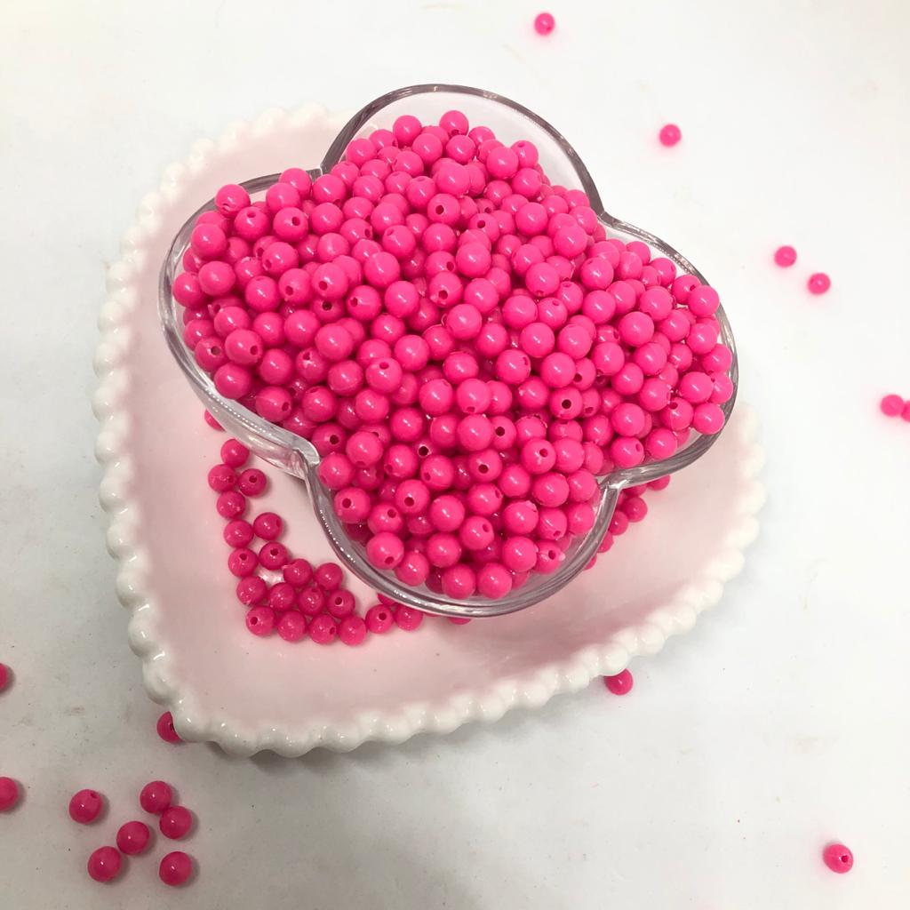 Bolinha de plástico rosa - 25g