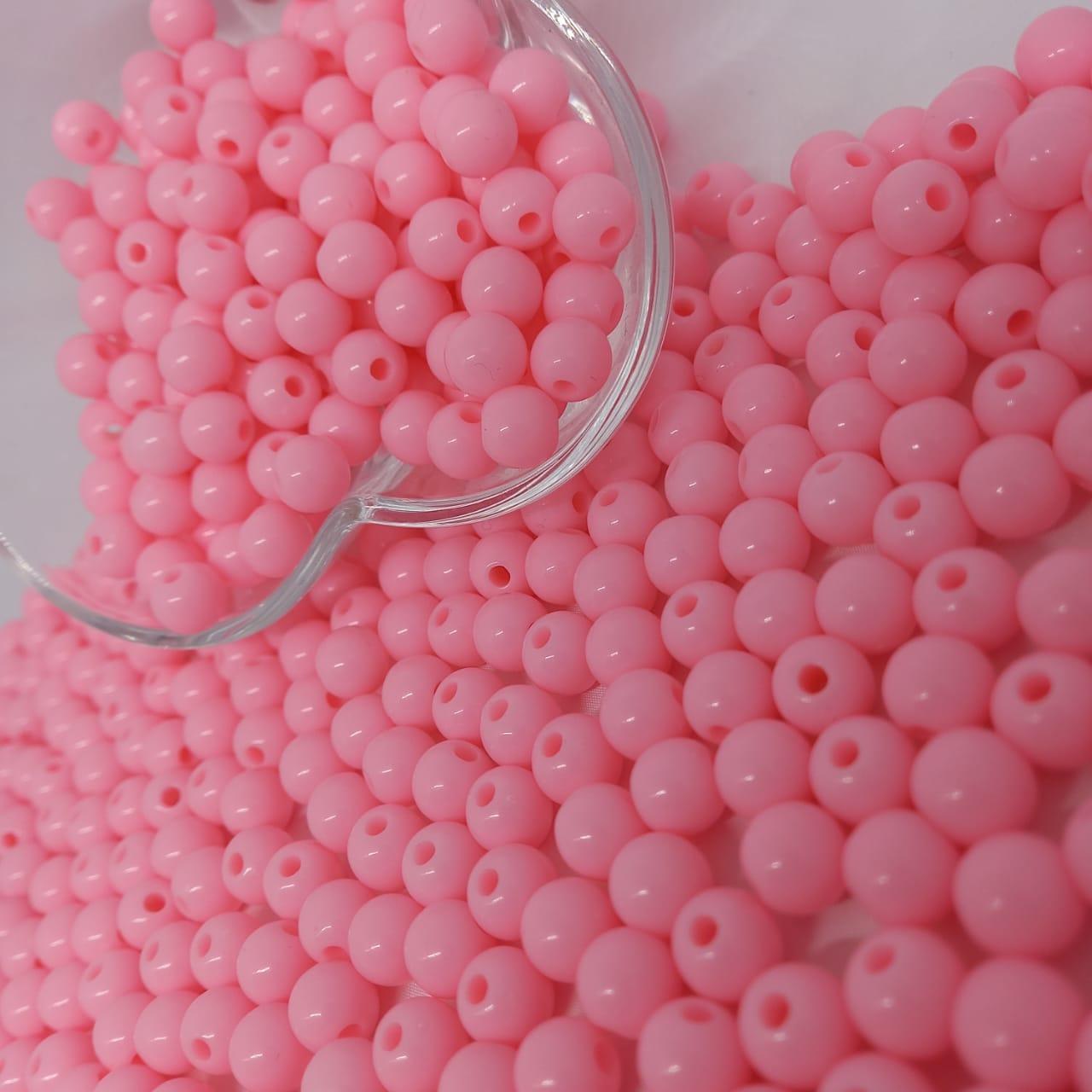Bolinha de plástico rosa - 25g 8mm