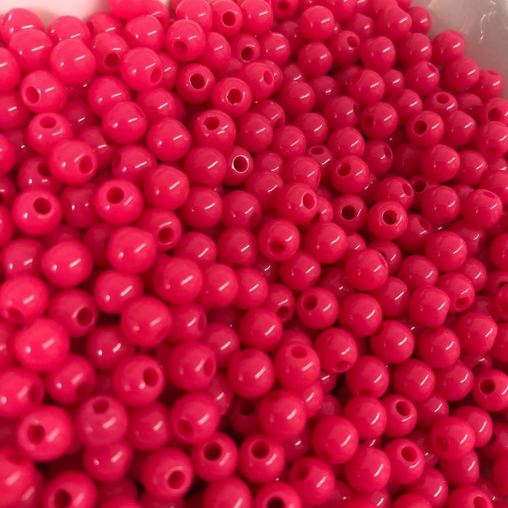 Bolinha de plástico rosa chiclete - 25g  - Palácio Dos Cristais