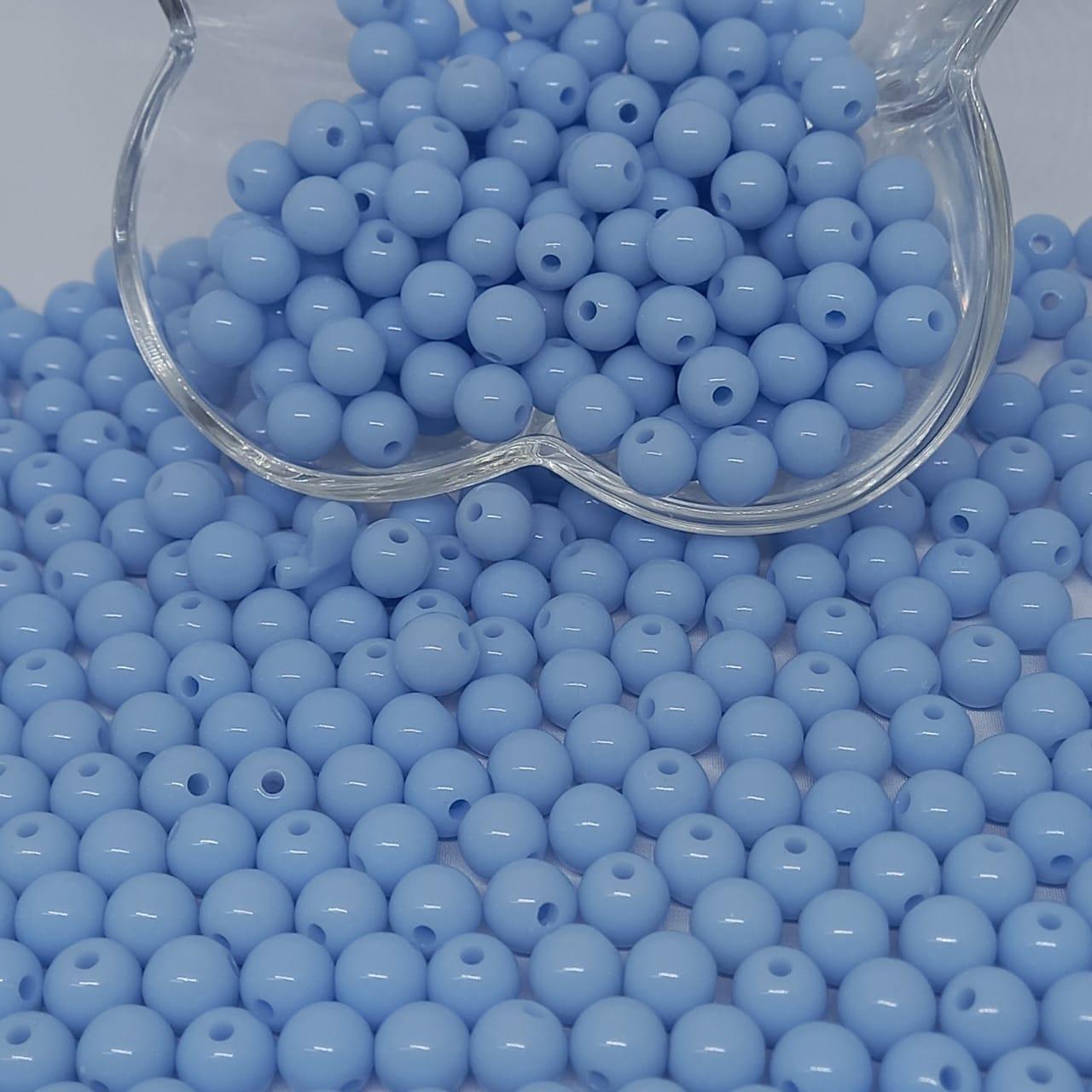 Bolinha de plástico azul bebê - 25g 8mm