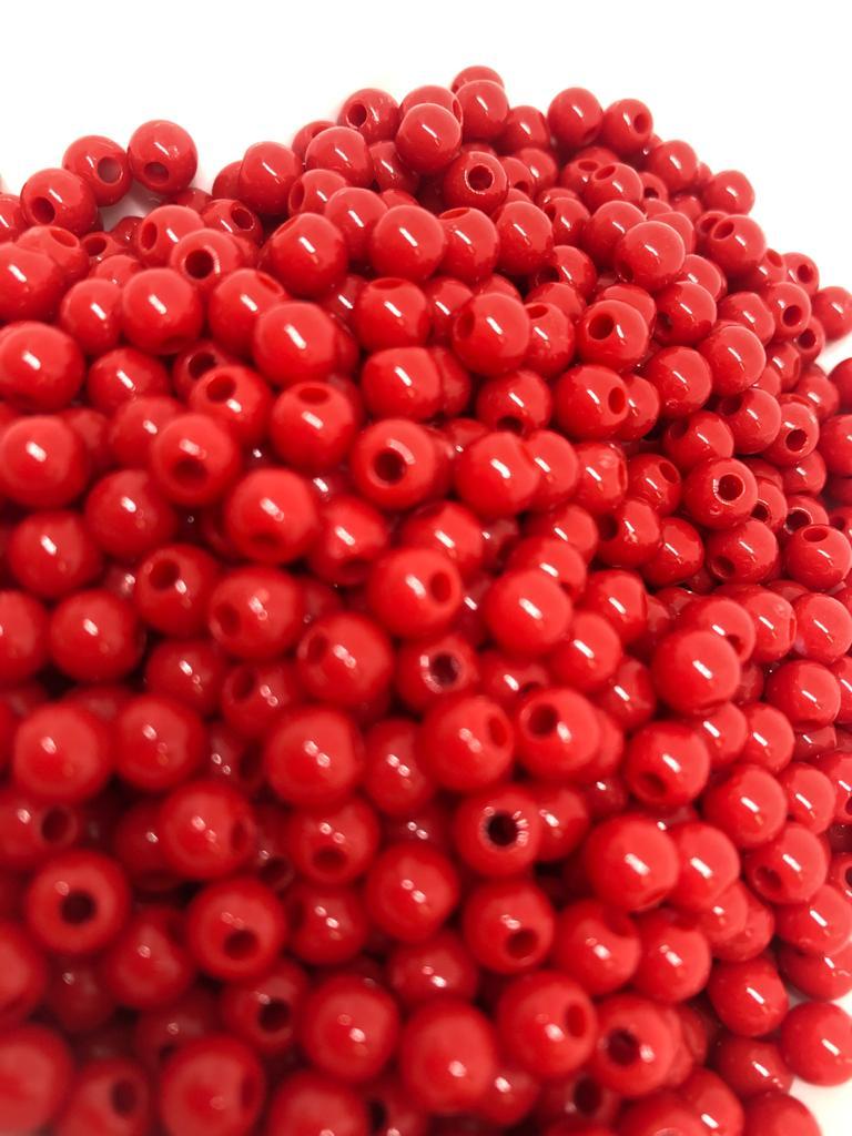 Bolinha de plástico vermelho - 25g  - Palácio Dos Cristais
