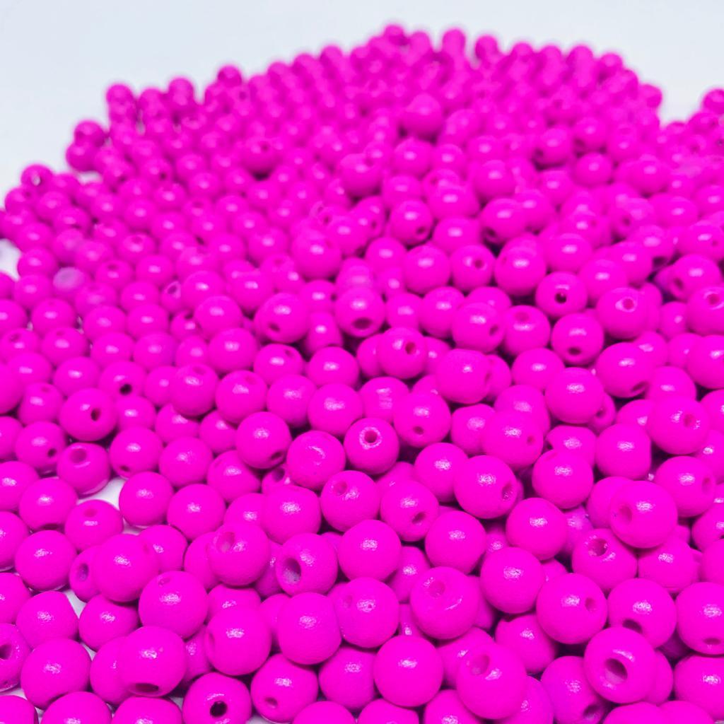 Bolinha de vidro 8mm fosca rosa  - Palácio Dos Cristais