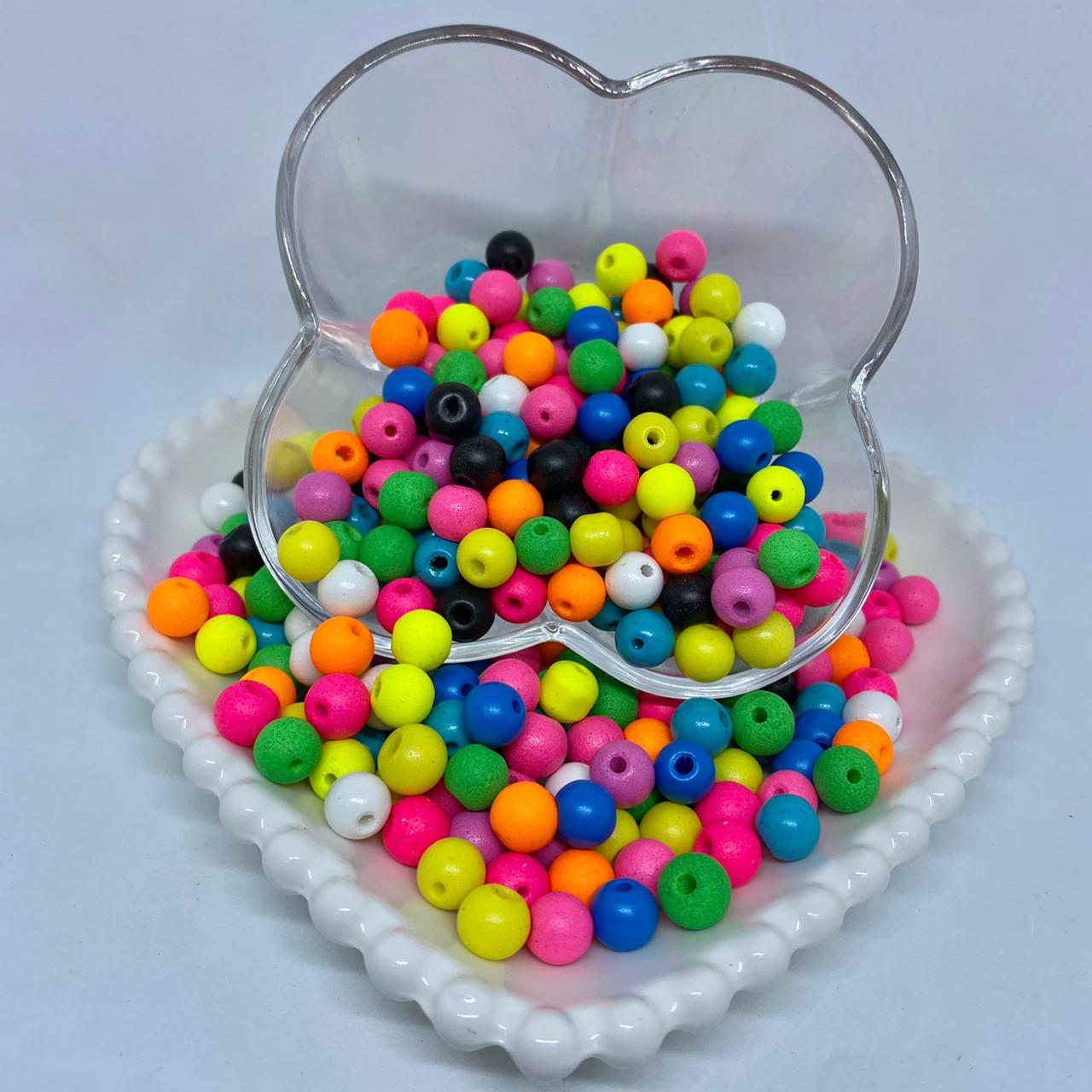 Bolinha de vidro 8mm multicolor
