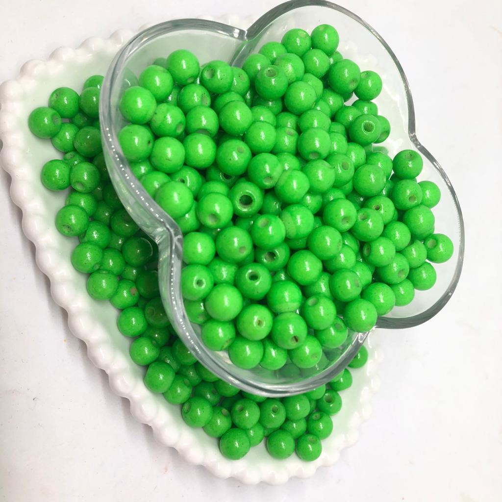 Bolinha de vidro 8mm verde limão
