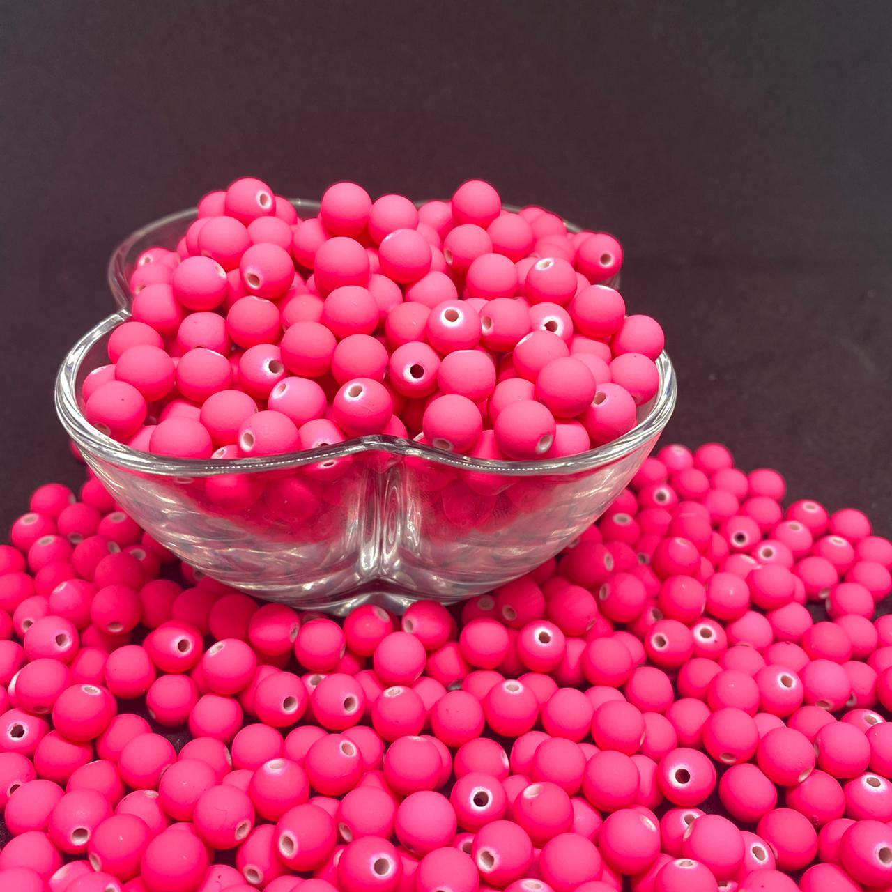 Bolinha emborrachada  8mm pink neon - 25g 5143