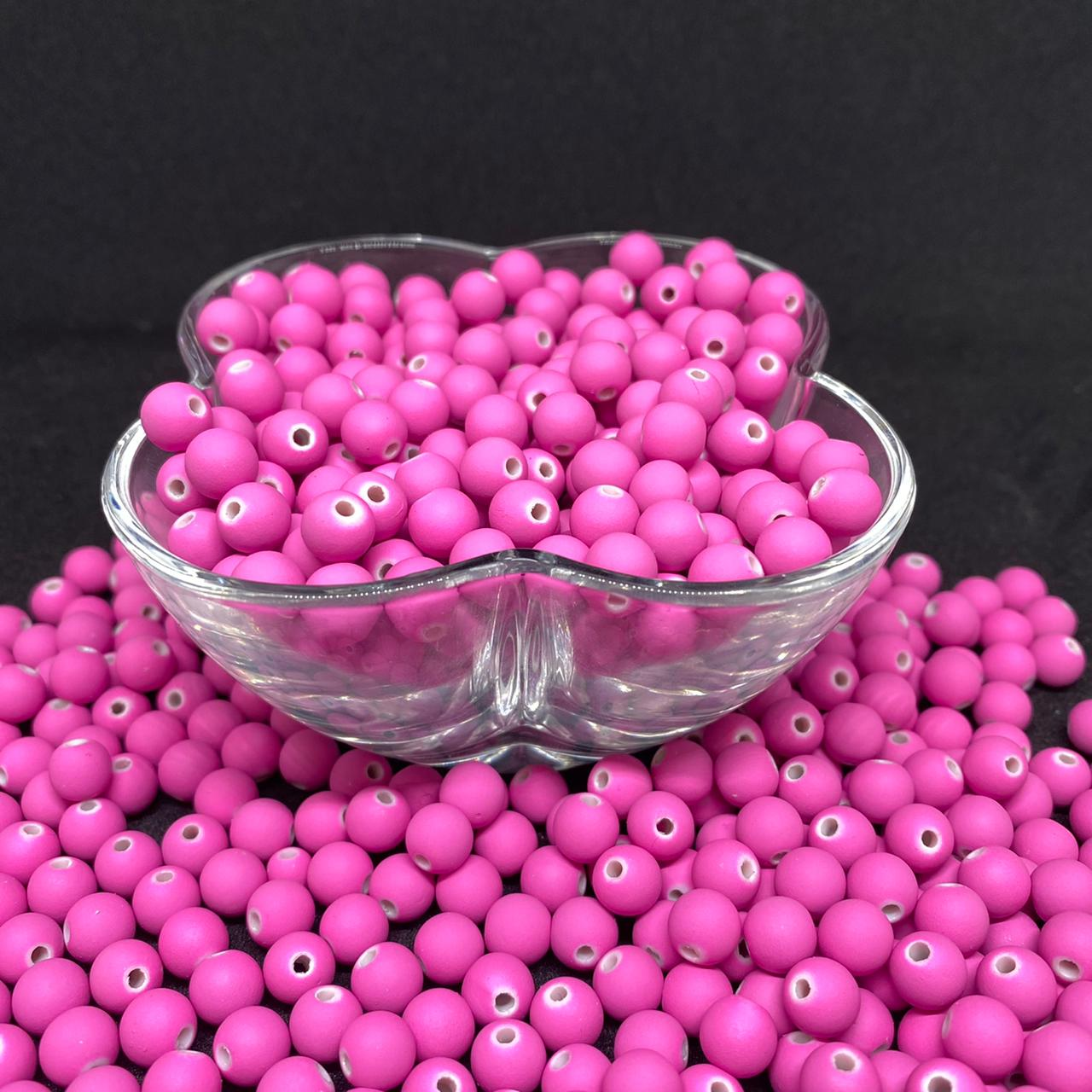 Bolinha emborrachada  8mm rosa taffy - 25g 5145