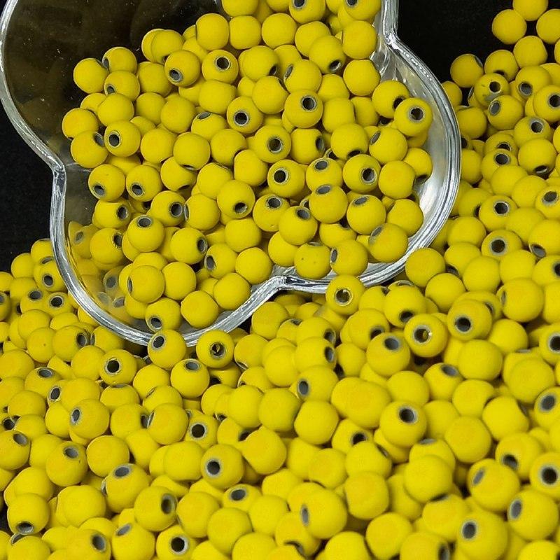 Bolinha emborrachada amarela 8mm - 25g