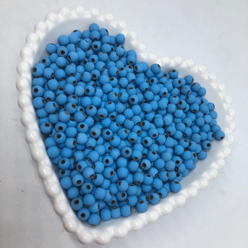 Bolinha emborrachada azul claro 6mm - 25g