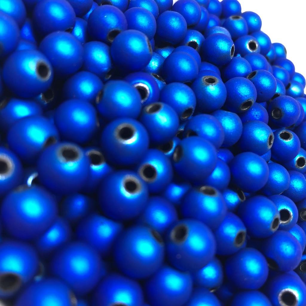 Bolinha emborrachada azul escuro 8mm - 25g