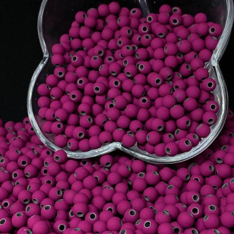 Bolinha emborrachada lilás 6mm - 25g