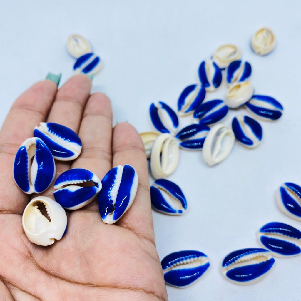 Búzios de resina azul 10 unidades