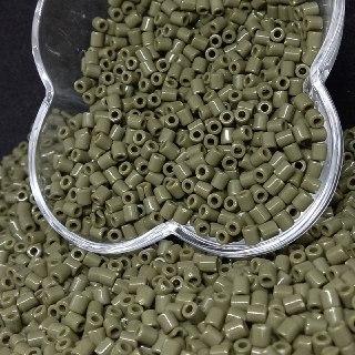 Canudinho passante verde musgo  4x6mm 25g