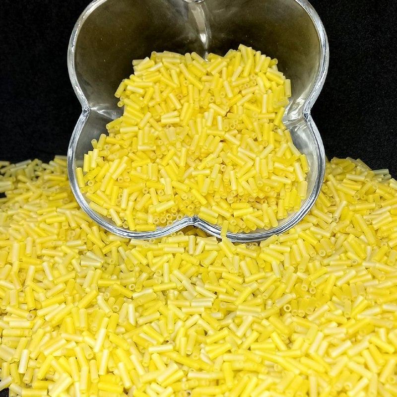 Canutilho amarelo  leitoso jablonex 6mm 25g