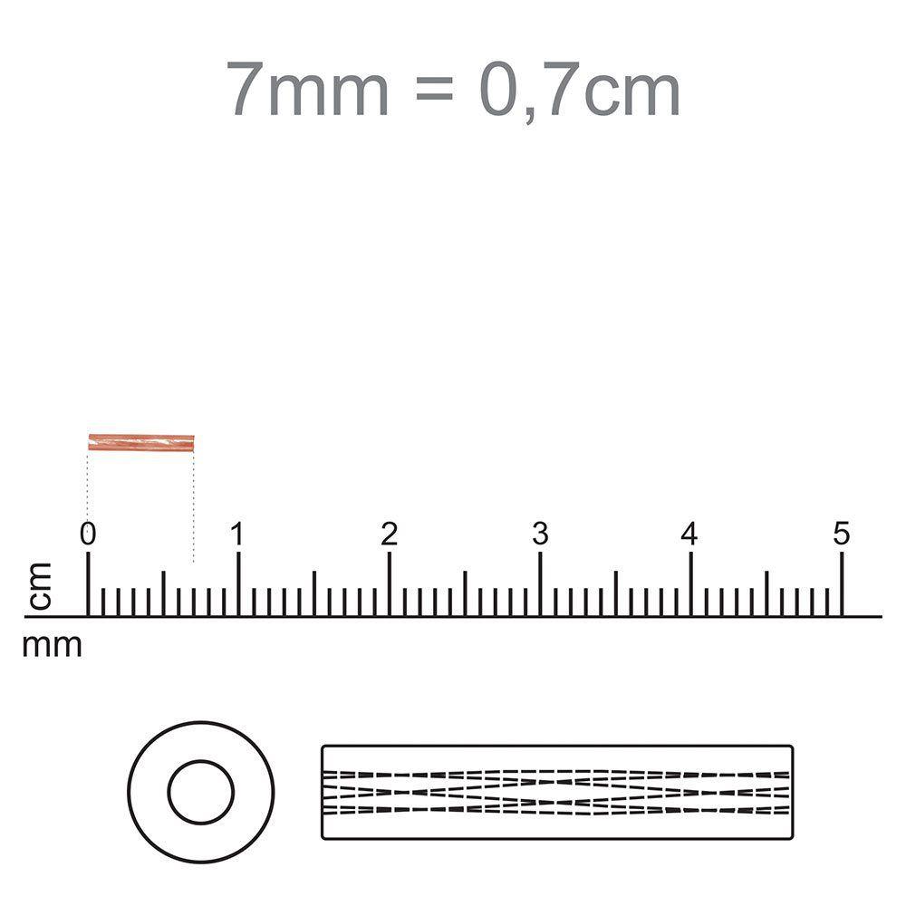Canutilho Preciosa Prata Eespelhado  3 polegada=7mm