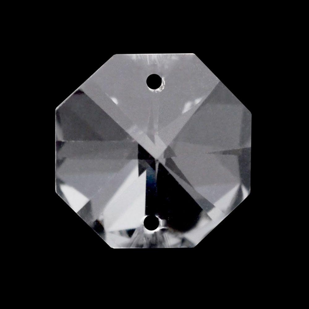 Castanha de Cristal  Lapidado Pingente(2 furos)
