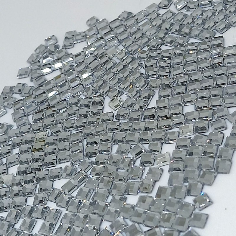 Chaton vidro quadrado cristal  hotfix 4x4mm 10000 peças