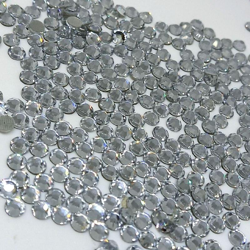 Chaton vidro redondo cristal hotfix Ss16 1440 peças