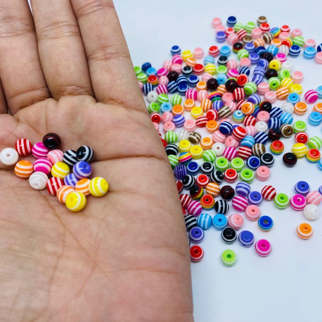 Contas coloridas  6mm 10 unidades