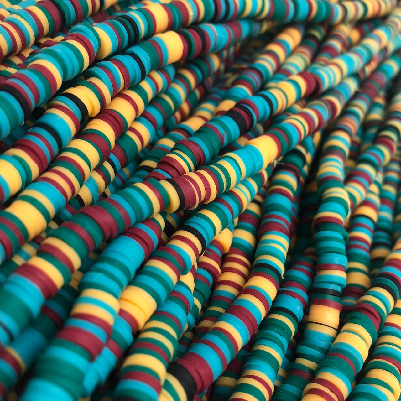 Fimo colorido 6mm - Cor da Jamaica  - Palácio Dos Cristais