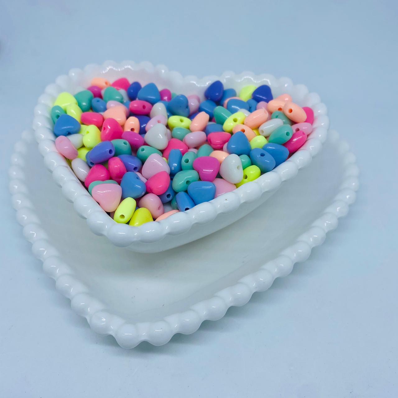 Coração multicolor 7mm 25 gr