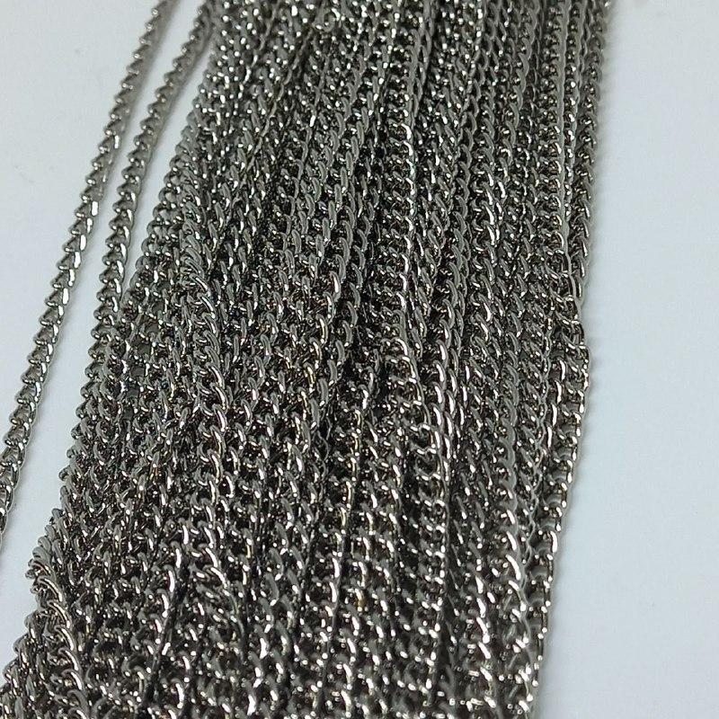 Corrente de ferro niquel grume 7,0 2mm / metro