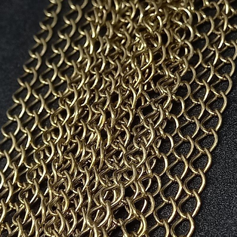 Corrente de ferro ouro velho  acc 4886  3mm / metro