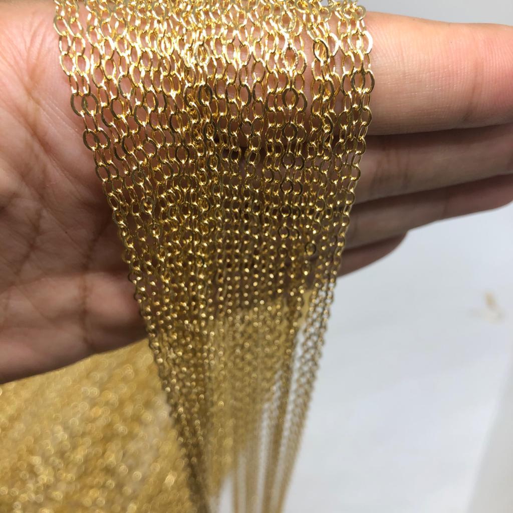 Corrente dourada 3mm (Cód2700)  - 1 Metro