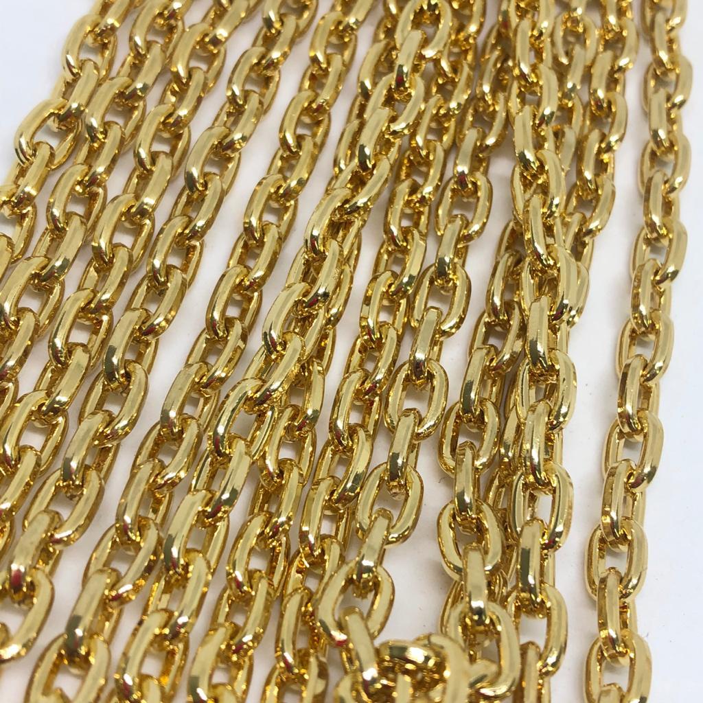 Corrente dourada 9x6mm (Cód598)  - 1 Metro  - Palácio Dos Cristais